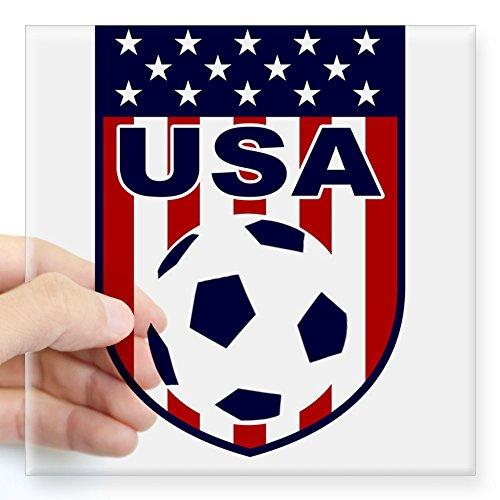 CafePress USA Soccer Sticker Square Bumper Sticker Car Decal, 3