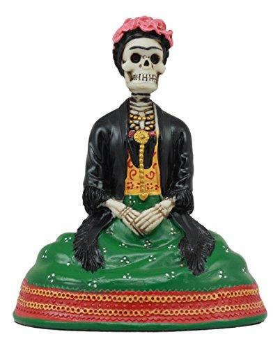 Ebros Mexican Dias De Los Muertos Sitting Lady Skeleton Day of The Dead Statue 4