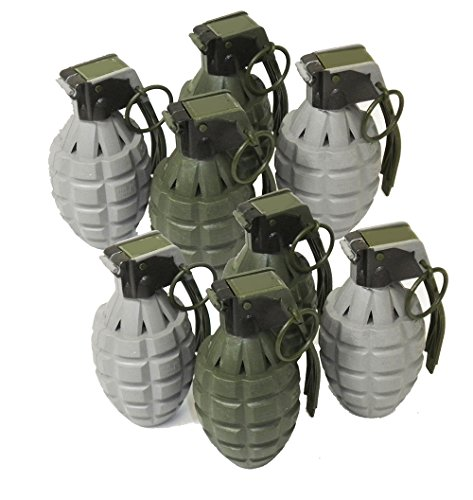 Toy Pineapple Hand Grenades with Sound Effects - 8 Pack - Army Grenade