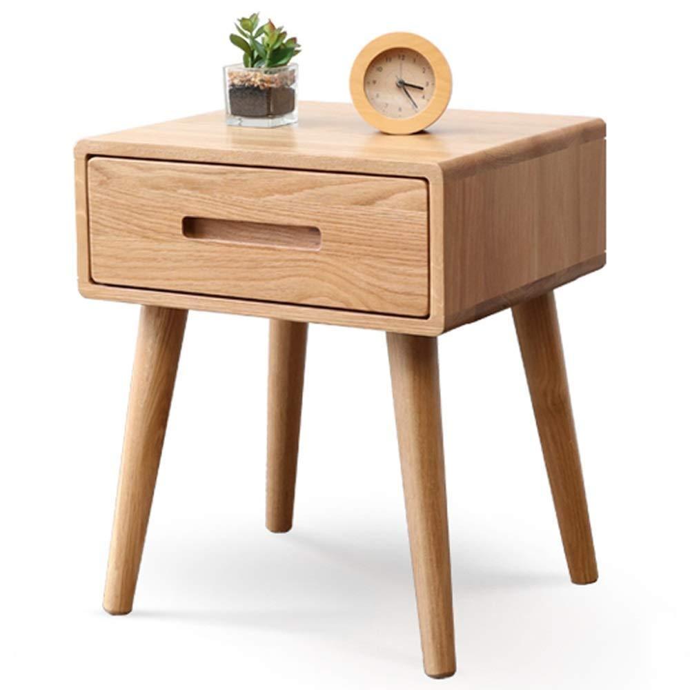 Ai xin Rechteckiger Nachttisch aus massivem Holz, Nachttisch/Akzenttisch mit Schublade und Schrank for die Aufbewahrung, Mini-Nachttisch mit minimalistischem Schlafzimmer