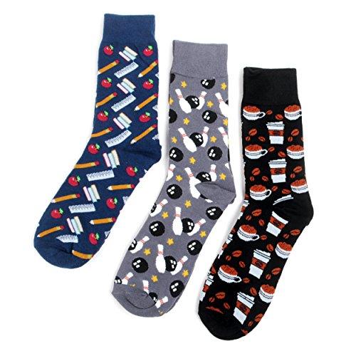 Men's School Survival Kit Novelty Crew Socks