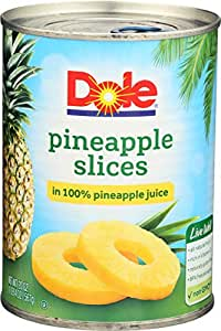 Dole, Pineapple Sliced, 20 Ounce