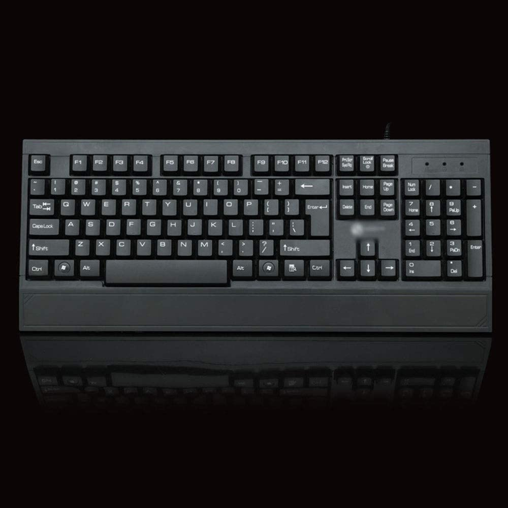 Hexiaoyi Keyboard USB Cable Business Office Desktop Computer Keyboard Wired Keyboard Color : Black