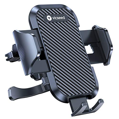 VICSEED Ultra Stable Car Phone Mount Easy Clamp Universal Car Phone Holder Air Vent Cell Phone Holder for Car Fits for iPhone 11 Pro X XS Max XR 9 Galaxy S20 S20+ Note 10 10+ Pixel 3XL 4XL All Phones