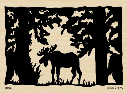 Slow Moving Moose Rubber Stamp By DRS Designs