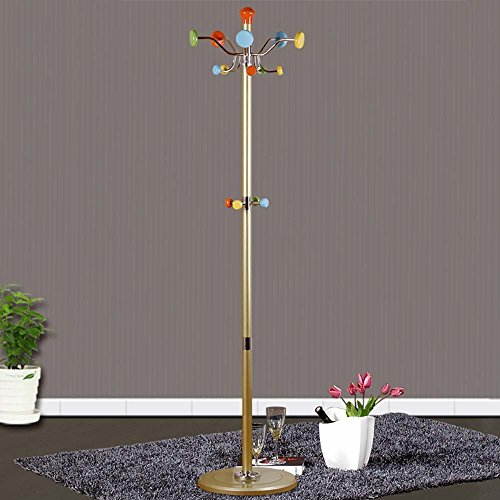 HOMEE Coat Rack, European Style Rotate Metal Landing Indoor Hangers Combination Racks (Optional Four Colors),#2 by HOMEE