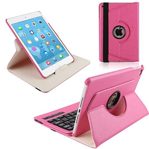 iPad Mini 4 Keyboard Cover, KVAGO Stylish 360 Degree Rota...