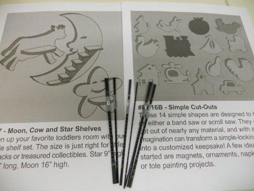 Flying Dutchman 6 Dozen Scroll Saw Blades Beginner Variety Intro Pack with Patterns