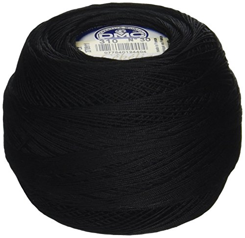 DMC 167GA 30-310 Cebelia Crochet Cotton, 563-Yard, Size 30, Black