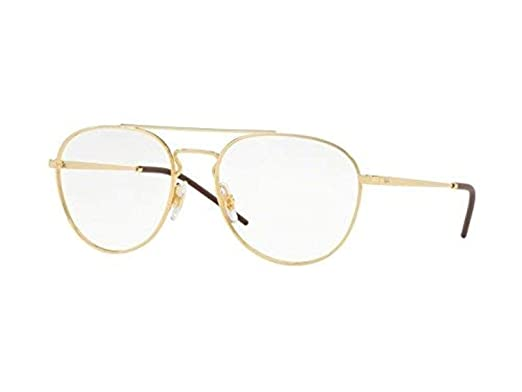 dc9ccb8cfd Image Unavailable. Image not available for. Color  Ray-Ban Unisex RX6414 Eyeglasses  Gold 53mm