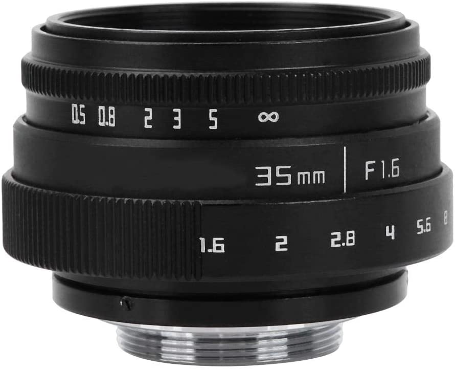 Single Lens Micro Lens 35mm F1.6 CCTV C Lens Wide Aperture Lens for NEX M4//3 FX Money