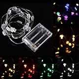2M 18 LED Hex Apetalous Flower Battery Operated Xmas String Fairy Lights Party Wedding Decor - (Color: RGB)