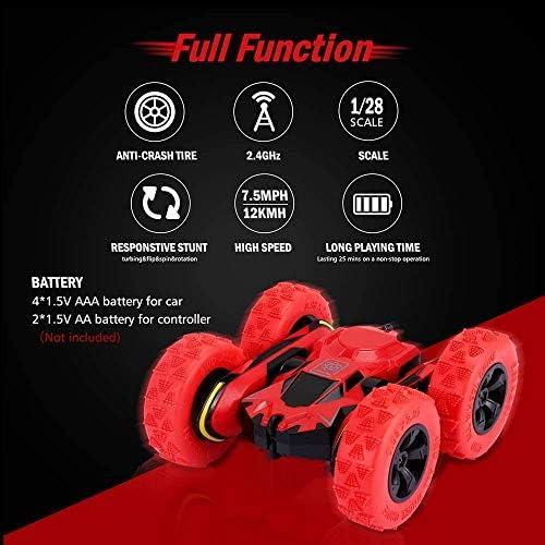 MMPY Fernbedienung Auto-LKW-4WD RC Stunt Car 2.4Ghz Doppelseitige Dreh 360 ° Flips Rennfahrzeuge Kinder Spielzeug-Autos Geschenk
