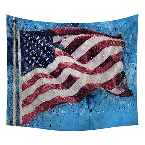 JustWin Fashion Novel Independence Day Print Home Tapestry Wall Hanging Wall Decoration Comfortable Tapestry Wall Hanging