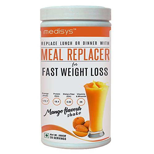 Medisys Nutritious Meal Replacer 500 Gms (A 1200 Calorie Meal Replacement Plan) (Mango)