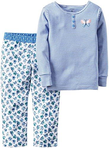 Carter's Baby Girls' 2 Pc Fleece 337g143, Blue Butterfly Flowers, 12 Months