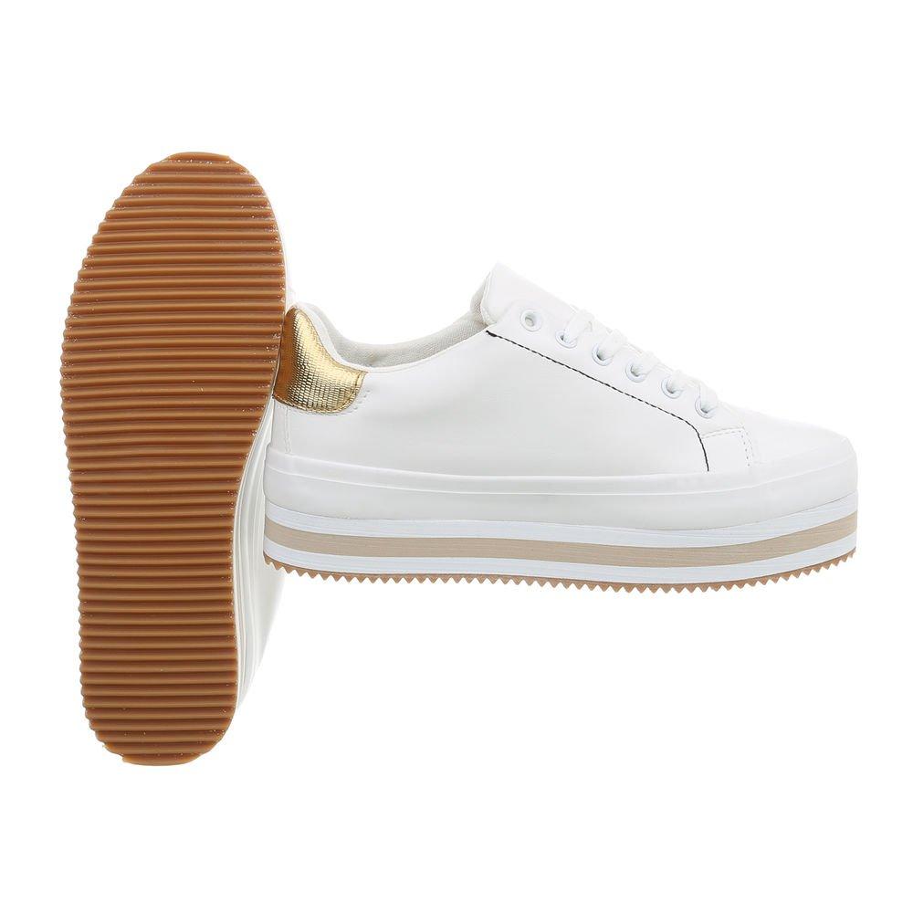 Ital-Design Damenschuhe Halbschuhe Schnürer Weiß Weiß Weiß 395fef