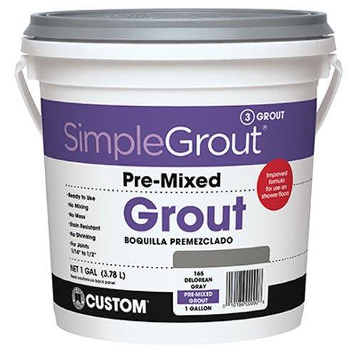 (Custom PMG1651 1-Gallon Simple Premium Grout, Delorean Gray,)