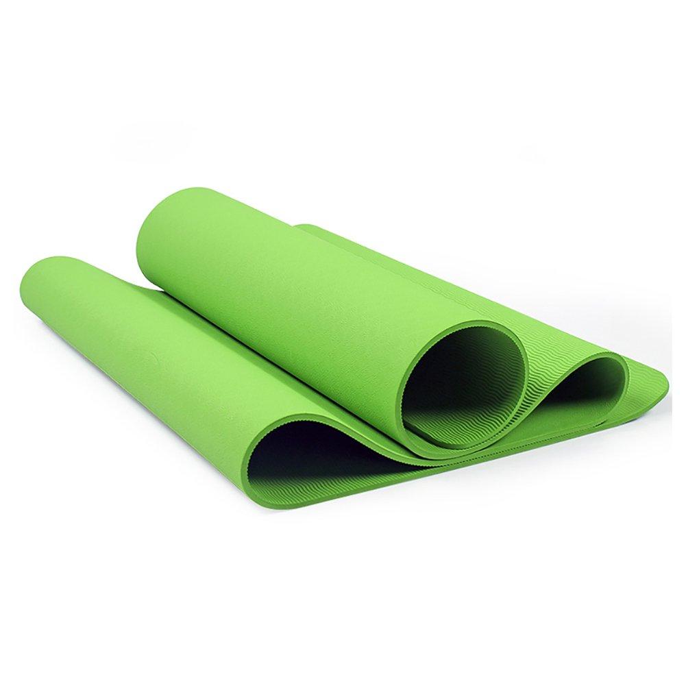 Yogamatte LXF TPE Anfänger Yoga Matte Fitness Matte High Density Rebound Rutschfeste Umweltschutz Weich und Komfortabel Multi-Farbe Optional (183 cm X 61 cm) 8mm