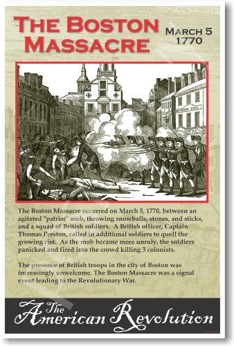 American Revolution: The Boston Massacre - Classroom Poster