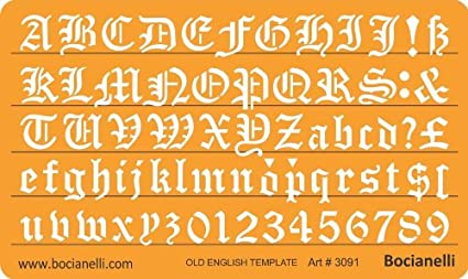 Set of 2 Artistic Drafting Templates and 4 ABC Lettering Stencil Plate