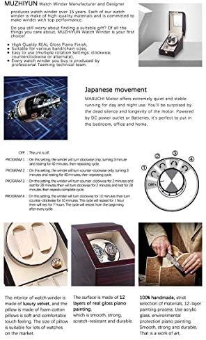 上げ機 2 + 3ウォッチワインダーラッカーピアノ光沢のあるブラックカーボンファイバー静かなモーター収納ディスプレイ腕時計ボックス自動ウォッチワインダーボックス 腕時計ワインディングマシーン