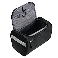 Our perfect designed durable toiletry bag is a very practical solution to store all your toiletries or makeup products. There are numerous compartments and the bag comes with a sturdy metal hook for hanging.100% PEACE OF MIND & TSA APPROV...