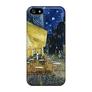 For Iphone 5/5S Phone Case Cover Slim [ultra Fit] Cafe Terrace At Night Vincent Van Gogh Protective Cases Covers