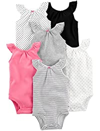Baby Girls' 6-Pack Sleeveless Bodysuit