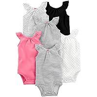 Simple Joys by Carter's Girls' 6-Pack Sleeveless Bodysuit
