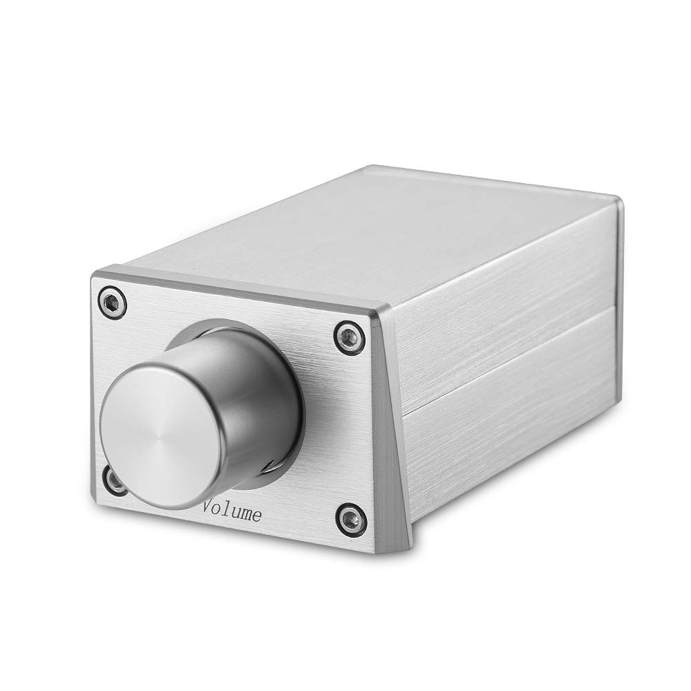 Nobsound High Precision Passive Preamp Volume Controller VOL Control HiFi Preamplifier ALPS (RCA&Standard Version, Silver) JMQ399S-BZ