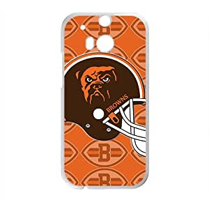 Custom HTC One M8 NFL Sports Logos Case Cleveland Browns Logo Design Protective Bumper Cover