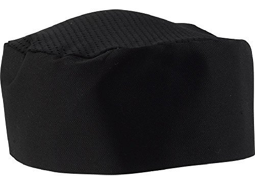 Black Mesh Top Chef Hat (6) by SunRise