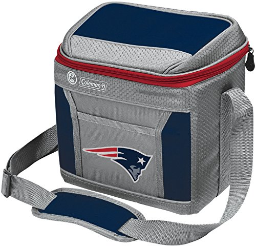 - Coleman NFL Soft-Sided Insulated Cooler Bag, 9-Can Capacity with Ice, New England Patriots