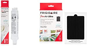 "Frigidaire EPTWFU01 Refrigerator Water Filter, 1 Count, White & PAULTRA PureAir Ultra Refrigerator Air Filter, 6.5"" x 4.75"""