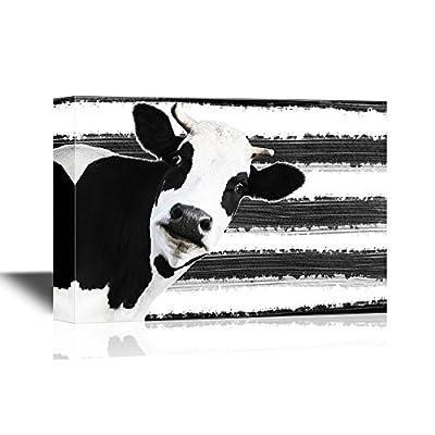 Black and White Bovine - Canvas Art