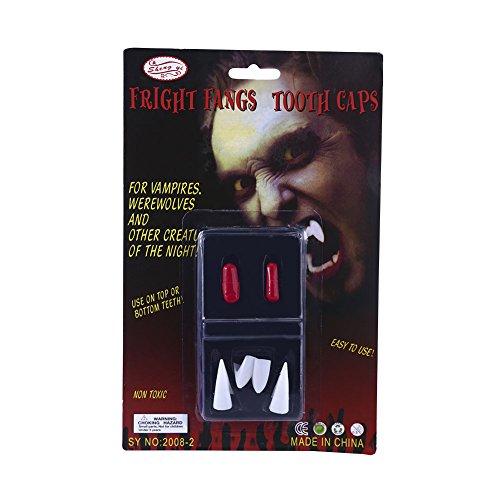 Makeup Tutoria - Dahlonega Horror Scary Vampire Teeth Ghost Devil Halloween Party Cosplay without Glue ( 6 pieces)