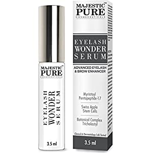 Majestic Pure Eyelash Growth Serum From - Cutting Edge Myristoyl Pentapeptide-17 & Swiss Apple Stem Cells Based Formula for Thicker & Longer Eyelashes and Eyebrows - 3.5ml