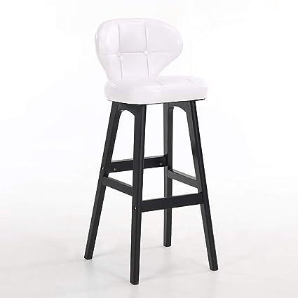 Bar Furniture Backrest Solid Wood Bar Chair Bar Chair Bar Stool Bar Stool Simple Household High Chair Front Desk Chair.