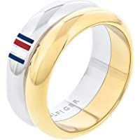 TOMMY HILFIGER WOMEN'S TWO TONE STAINLESS STEEL RINGS -2701096E