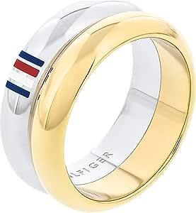 خاتم للنساء من تومي هيلفجر بلونين من الستانلس ستيل -2701096E