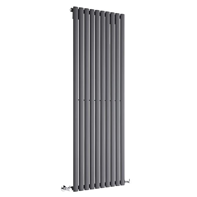 Milano Hudson Reed - Radiador de Diseño Vertical - Antracita - 1600mm x 590mm x 55mm - 1402 Vatios - Revive: Amazon.es: Hogar