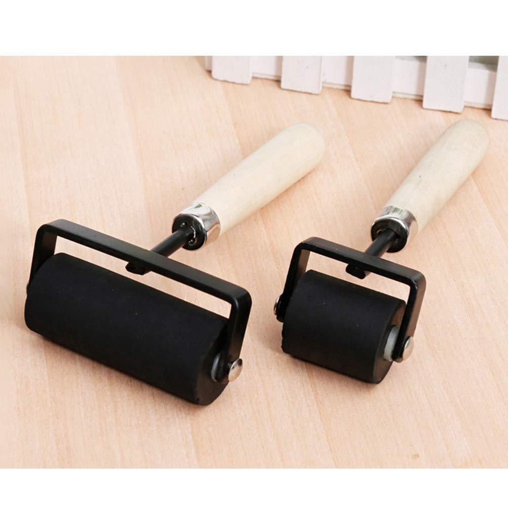 Healifty rodillo de goma para herramientas de construcci/ón de cinta antideslizante herramientas de estampado de tinta