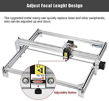 TOPQSC DIY Kits de grabador láser CNC 12V USB Máquina de grabado láser de escritorio, superficie de grabado 650X500mm, impresora láser de potencia ...
