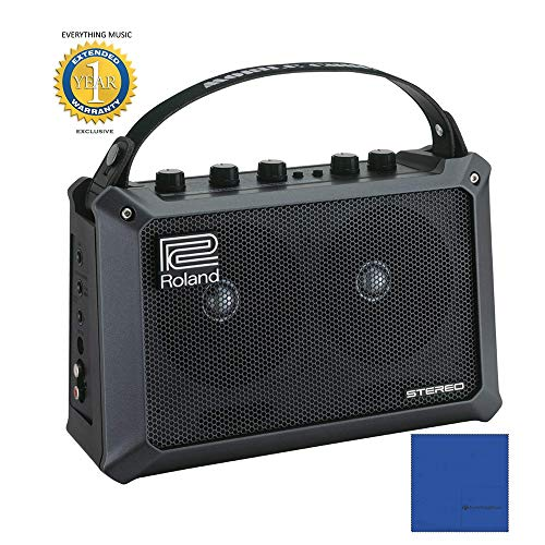 - Roland Mobile Cube Battery-Powered Stereo Guitar Combo Amplifier with 1 Year Free Extended Warranty