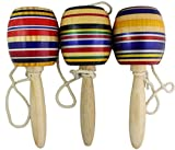 3 Pack Wooden Baleros Made in Mexico Premium Quality (3 Pack, Assorted Colors)