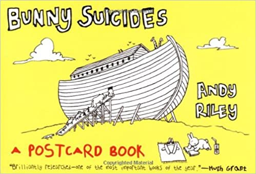 Bunny Suicides Postcard Book Little Fluffy Rabbits Who Just Dont Want To Live Anymore Andy Riley 9780452287037 Amazon Books