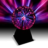 Plasma Ball -7.5 Inch - Nebula, Thunder Lightning, Plug-In - For Parties, Decorations, Prop, Kids, Bedroom, Home, And Gifts - By Katzco