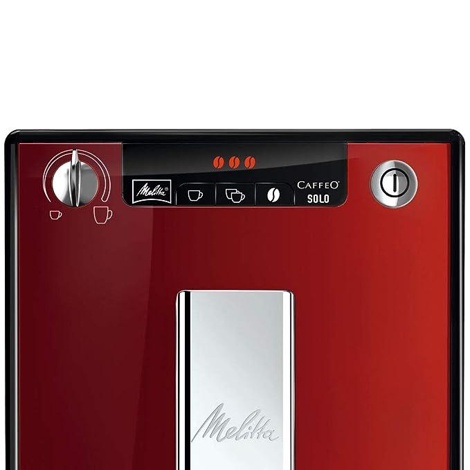 Melitta Caffeo Solo E950-104 - Cafetera Automática, Molino Cónico, Colorida y Estilosa, 1.2 Litros, Rojo