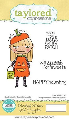 Taylored Expressions Mischief Maker Lil Pumpkin Cling Unmounted Rubber Stamp Set (TEPS130)
